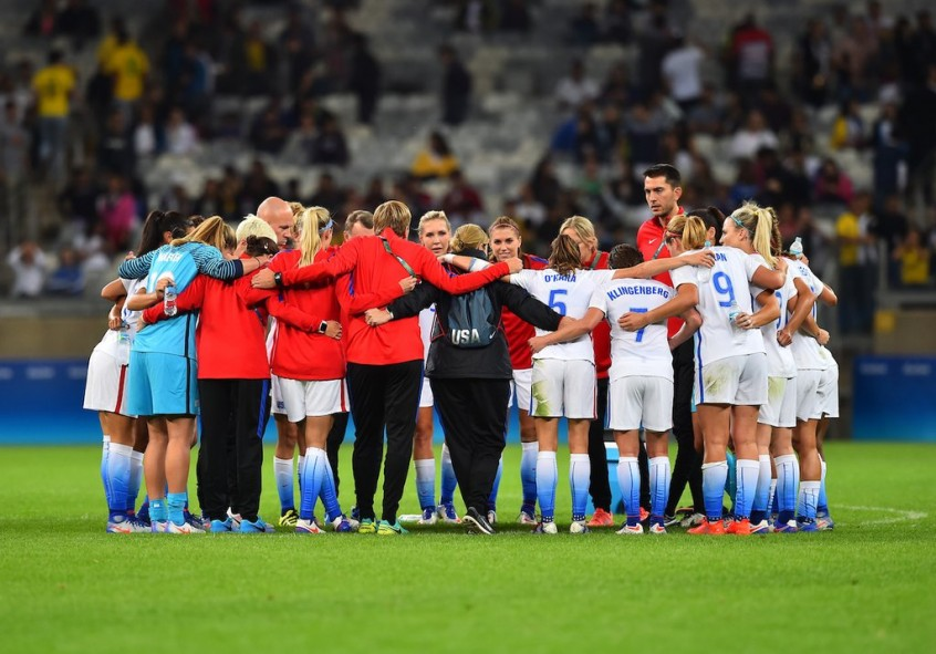 Belo Horizonte, Brazil - Wednesday, August 3, 2016: The USWNT go on to defeat New Zealand 2-0 in Group G play during the 2016 Olympics at Mineirão stadium. BRAD SMITH #ISIPHOTOS